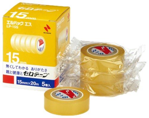 ニチバン セロテープ小巻 エルパックエス 15mm×20M 5巻入 LP-15S