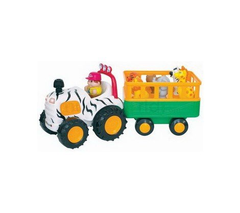 Small World Express Preschool Toys Safari Vehicle With Trailer