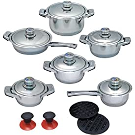 Milex Professional 18 Pieces Stainless Steel Kitchen Pot Set