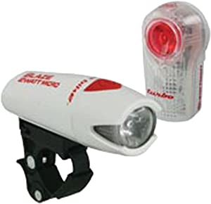 Planet Bike Blaze 2 watt Micro Headlight and Superflash Turbo Taillight Set: White... by Planet Bike