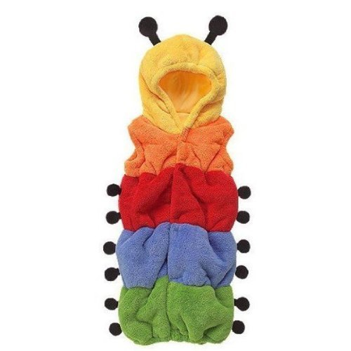 Dexiu Nice Colorful Caterpillar Shaped Double-Layer Soft Fleece Baby Infant Toddler Sleeping Bag Sleep Sack Photography Prop