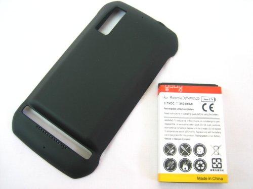 Motorola Photon 4G Mb855 Extended Capacity 3500Mah Li-Ion Battery + Black Battery Door Cover ~ Mobile Phone Repair Parts Replacement front-124382