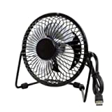 Powerpak Adjustable Angle of Pitch, 4 Metal Blades Mini USB Fan (Color May Vary)