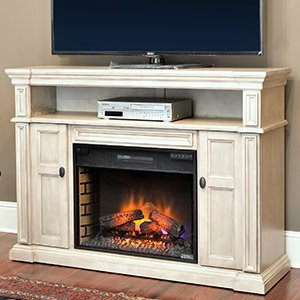 Classicflame Wyatt Infrared Electric Fireplace Media Console In Soft White Grey - 28Mm4684-T477
