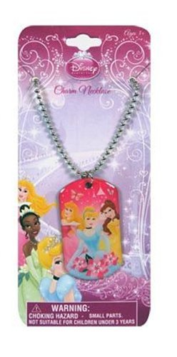 Disney Princess Pink Metal Dogtag Charm Necklace by H.E.R Accessories