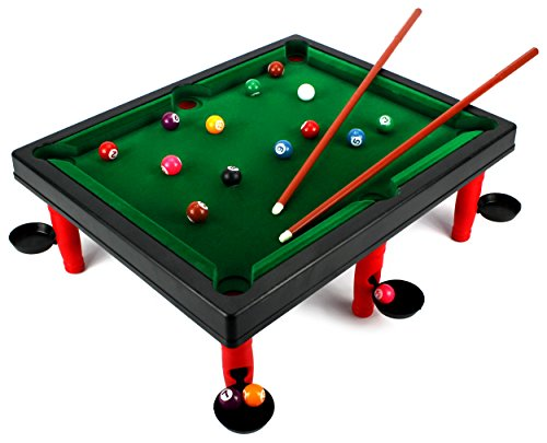 Vt versus world champion toy billiard pool table game w table full set of billiard balls 2 - Billiard table vs pool table ...