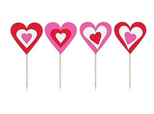 Shindigz Heart Decor Food and Cupcake Party Picks