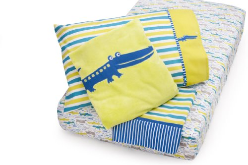 Zutano Alligators Toddler Bed Set, 4 Piece
