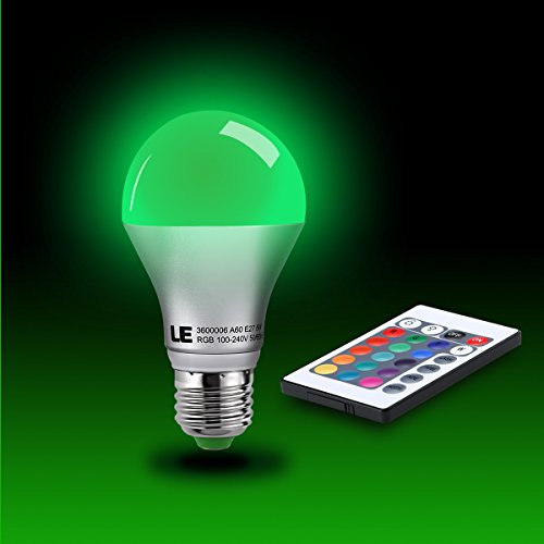 Le 2 pack dimmable a19 e26 led bulbs color changing 160 for Buyers choice light bulbs