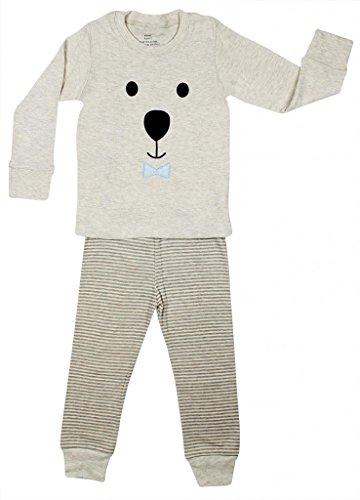 "Elowel ""Teddy Bear Face"" 2 Piece Pajama Set 100% Cotton - 5 Toddler front-1077785"