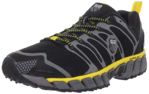 K-Swiss Men's Blade Max Trail Manmade/Manmade/Manmade Black/Charcoal/Brilliant Yellow Lace Up 02725-099-M 7 UK