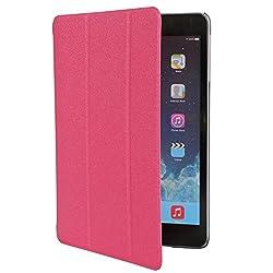 iPad Mini 2 Back Cover, Screenward Sparkle Finish Slim Flip Cover Case For Apple iPad Mini 2 (Pink) [Auto Wake sleep] - Pink