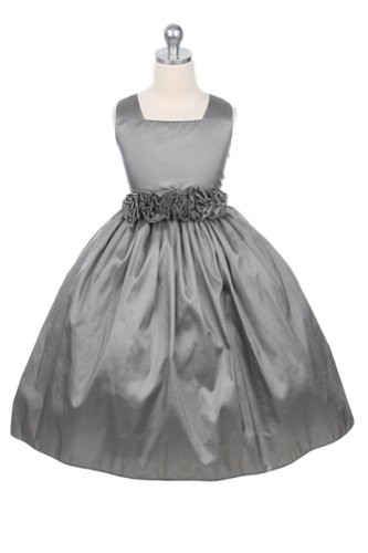 Sweet Kids Dresses 3047 Special-Occasion-Dresses,Silver,10