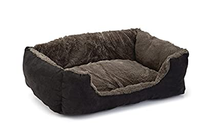 Beeztees Baboo Cat Rest Bed, 37 cm, Taupe/Black