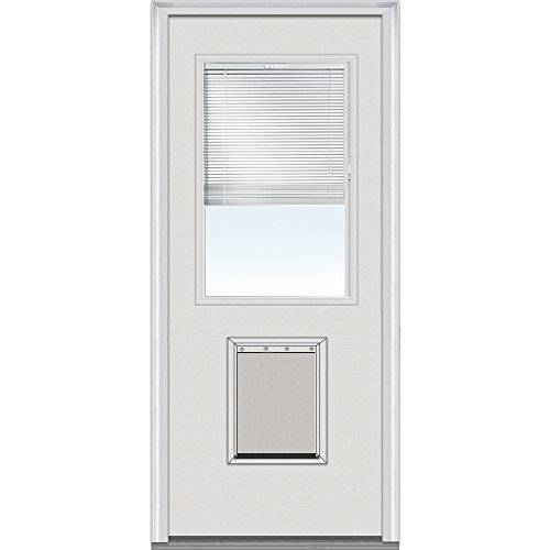National Door Company EFSF684BLFS28L Fiberglass Smooth