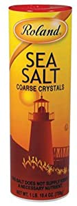 Roland Coarse Crystal Sea Salt, 26.5-Ounce (Pack of 12)