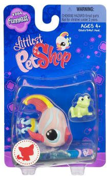 Littlest Pet Shop Funniest Single Figure Angel Fish with Frog Toy - 1