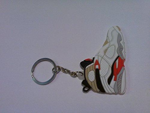 Air Jordan VIII/8 Bugs Bunny Playoff White/Black/Red Chicago Bulls Sneakers Shoes Keychain Keyring AJ 23 Retro