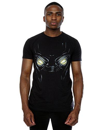 Marvel Uomo Captain America Civil War Black Panther Eyes Maglietta XXX-Large Nero