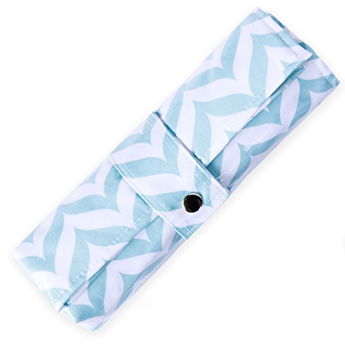 Diaper Changing Pad - Waterproof, Wipeable & Washable - Quilted Padding - BLUE CHEVRON (Diaper Bag With Changing Pad compare prices)