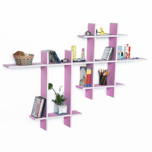 Trista - [Love Song-Mega] Leather Cross Type Shelf / Bookshelf / Floating Shelf (9 Pcs) front-648377