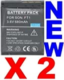 Neewer 2X Replacement Np-Ft1 Batteries For Sony Cyber-Shot Dsc-T9 Dsc-T10 L1 & More!