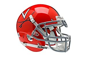 NCAA Virginia Cavaliers Authentic XP Football Helmet, Orange Grey by Schutt