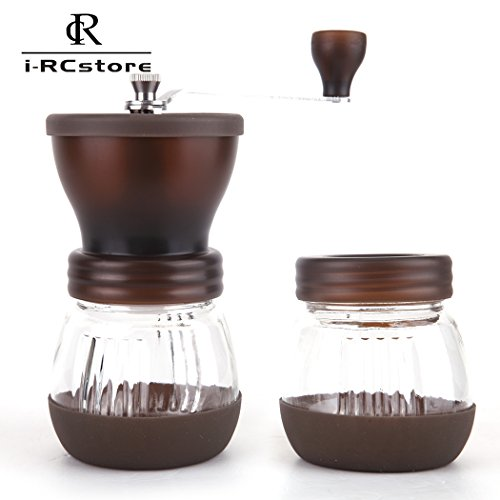 Best Buy! RC Manual Ceramic Burr Coffee Grinder, Hand-crank Coffee Mill(Includes A Gift) Brown