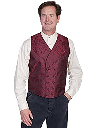Rangewear By Scully Mens Rangewear Wide Notched Lapel Vest  AT vintagedancer.com