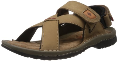 Lee Cooper Men's Olive Leather Outdoor Sandals - 7 UK