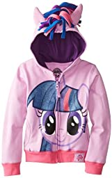 My Little Pony Big Girls\' Twilight Sparkle Hoodie, Purple/Multi, 7/Small