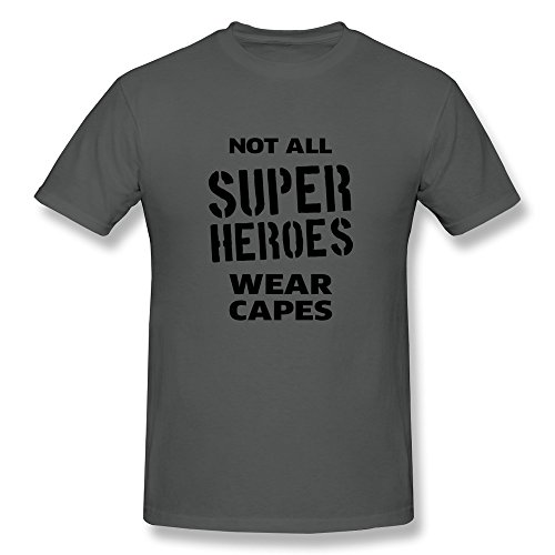 Vintage Super Heroes Wear Capes Tshirts Making For Male DeepHeather