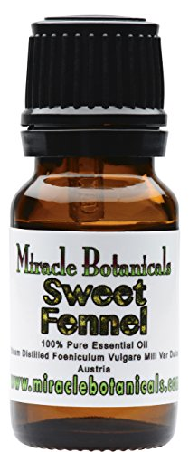 Miracle Botanicals Sweet Fennel Essential Oil - 100% Pure Vulgare Mill Var Dulce - Therapeutic Grade 10ml