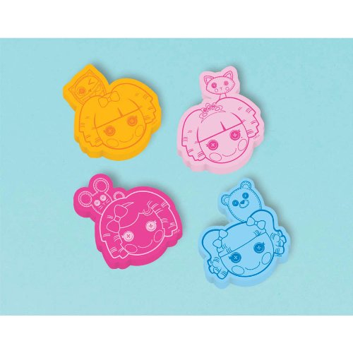 Amscan Adorable Lalaloopsy Eraser (12 Piece), Orange/Light Pink/Pink/Blue, 1 3/8""
