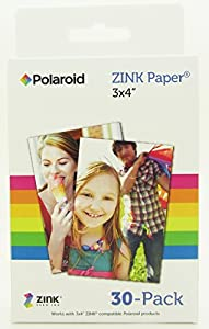 "Polaroid 3x4"" Instant Film / ZINK Paper for Z340 Camera (30 Color Prints)"