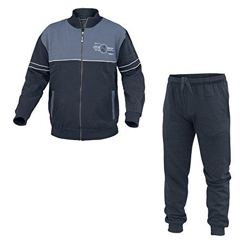 Tuta Uomo NAVIGARE Sport Cotone Felpato Tg Forti 2 Colori Full Zip Art.28229B ( Jeans - 58 / 4XL)