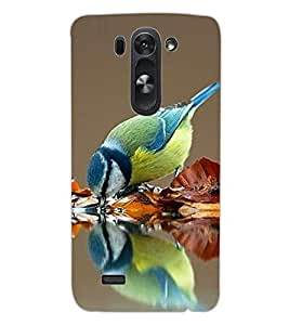 ColourCraft Beautiful Bird Design Back Case Cover for LG D722 K