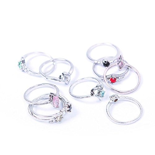 Woman Wholesale Lots 10PCS Fashion Sterling Silver Plated Mixed Design Ring Set 02 Review