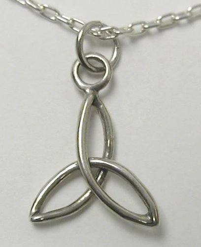 A Little Trinity Knot Pendant or Charm in Sterling Silver