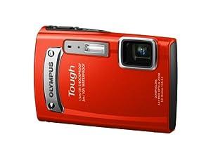 Olympus Tough TG-320 Digitalkamera (14 Megapixel, 3,6-fach opt, Zoom, 6,9 cm (2,7 Zoll) Display, bildstabilisiert, 3m wasserdicht, 1,5m stoßfest) rot