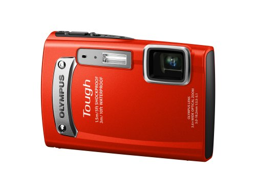 Olympus TG-320 Digital Compact Camera - Red (14MP, 3.6x Wide Optical Zoom) 2.7 inch LCD
