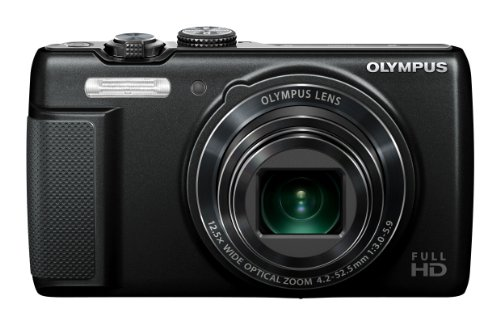 Olympus SH-21 Digital Zoom Camera - Black (16MP, 12.5x Super-Wide Optical Zoom) 3 inch LCD Touch Panel