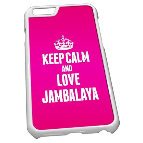 Blanc Coque pour iPhone 61186Rose Keep Calm and Love Jambalaya