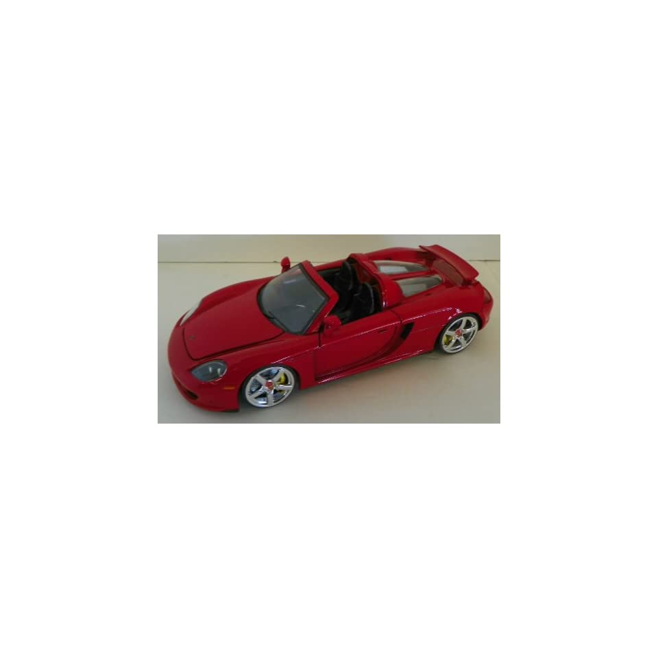 Jada Toys 1/24 Scale Diecast Big Time Muscle Porsche Carrera Gt in Color Red
