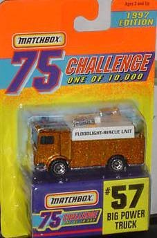 Matchbox Limited Edition 75 Challange #57 Big Power Truck 1 of 10,000 1997 Edition