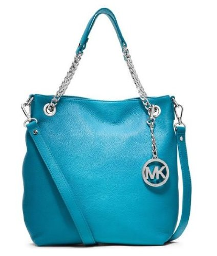 Michael Kors Medium Chain Shoulder Tote Summer Blue