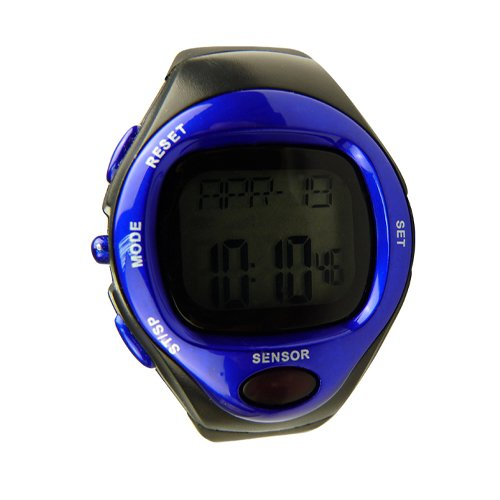 Calorie Counter Wrist Watch Heart Rate Monitor Showing Dynamic Pulse