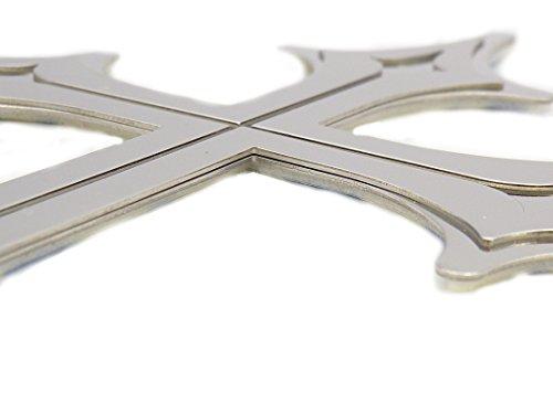 クロス エンブレム 十字 3D ステッカー 車 装飾 金属製 ステンレス ドレスアップ