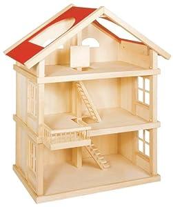 large wooden dolls house toys games. Black Bedroom Furniture Sets. Home Design Ideas