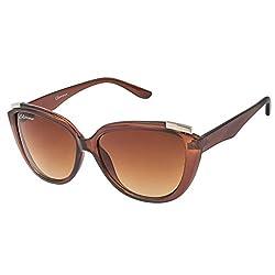 Chevera Voguish Brown Wayfarer Sunglasses